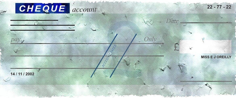 remplir un chèque