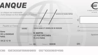chèque barré